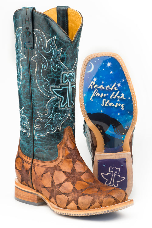 TIN HAUL WOMENS TAN WISH UPON A STAR  NON-REMOVABLE INSOLE WISH UPON A STAR / DREAM RIDER SOLE BOOTS