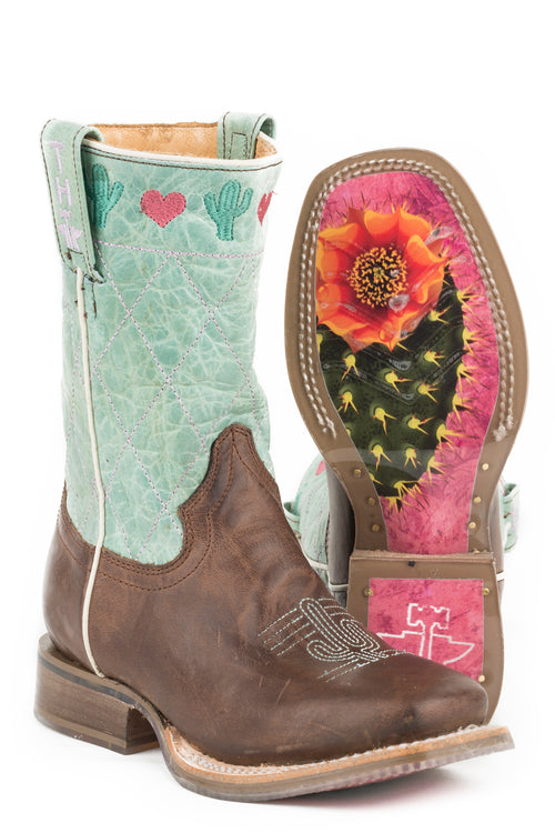 TIN HAUL BIG KIDS BROWN I <3 CACTUS I <3 CACTUS/HEARTSHAPED SOLE BOOTS