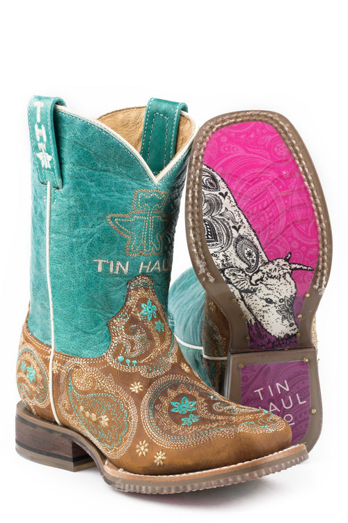 TIN HAUL BIG KIDS TAN PRETTY PAISLEY PRETTY PAISLEY BOOTS