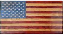 "Handcrafted Laser Engraved Wooden Flag 21""×34"" ""Old Glory"""