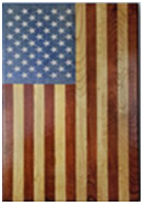 "Handcrafted Laser Engraved Wooden Flag 21""×34"" ""The Patriot"""