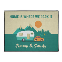 Home Is Where We Park It - Personalized Outdoor Mat
