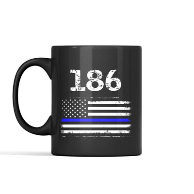 Blue Line Flag Personalized Mug