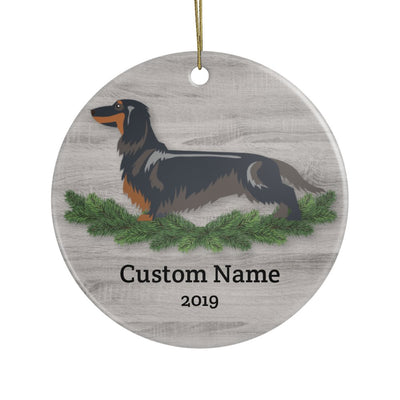 Personalized Dachshund Christmas Ornament