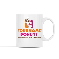 (Custom Name) Donuts Personalized Mug