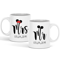Mr Mrs Personalized Couple Mugs