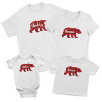 Buffalo Plaid Bear Family Matching Shirts