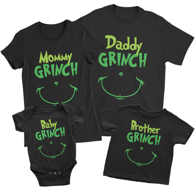 Grinch Family Matching Shirts