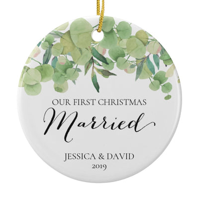 First Christmas Married Ornament Personalized