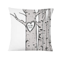 Birch Tree Personalized Pillow