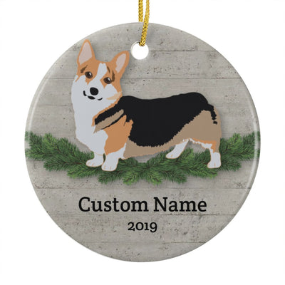 Personalized Corgi Christmas Ornament