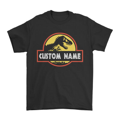 Custom Name Jurassic Park - Personalized T-shirts