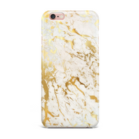 White Gold Marble Phone Case