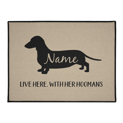 Dachshund Lives Here Personalized Indoor/Outdoor Floor Mats