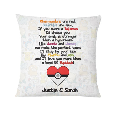 Pokemon Poem Personalized Pillow