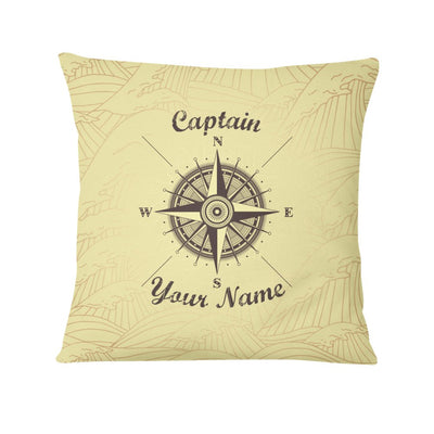 Compass (Custom Name) Personalized Pillow