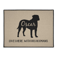 Pit Bull Lives Here Personalized Indoor/Outdoor Floor Mats