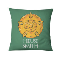 GOT Personalized House Name Throw Pillows