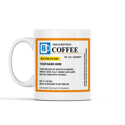Personalized Prescription Coffee Mug