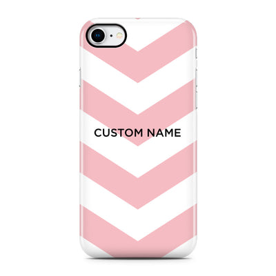 Pink Chevron Stripe Phone Case - Personalized