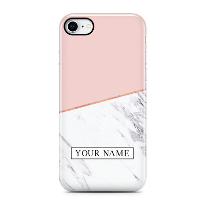 Pink Marble Cut Phone Case - Personalized
