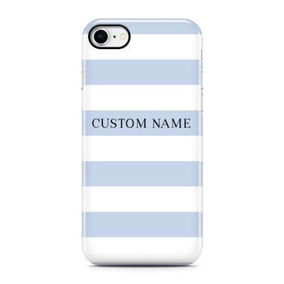 Blue Stripe Phone Case - Personalized