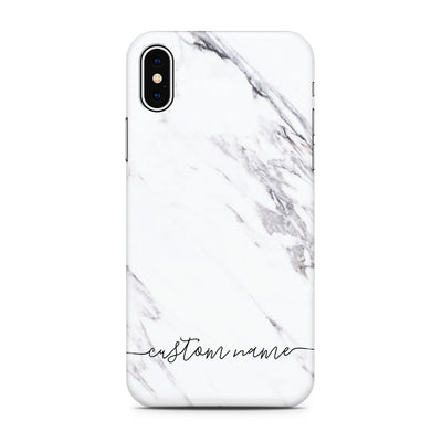 Personalized - White Marble Phone Case