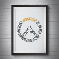 Overwatch All Heroes Icon Poster