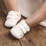 [105245-MULTICOLOR] - Sepatu Bayi Prewalker / Baby Shoes - Motif Small Love