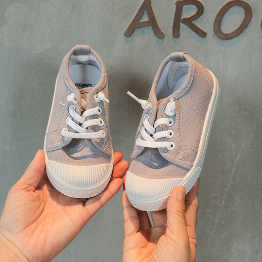 [365101-GRAY] - Import Sepatu Kets Anak Kekinian - Motif One Full Color