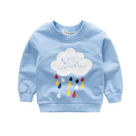 [102122-BLUE] - Atasan Sweater Anak Motif Cloud Usia 1 - 4 Thn [B1101]