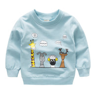 [102214-BLUE] - Atasan Anak / Sweater Anak  - Motif Animal Conversation