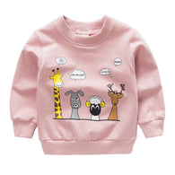 [102214-PINK] - Atasan Anak / Sweater Anak  - Motif Animal Conversation