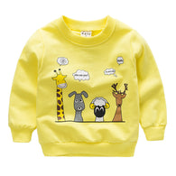 [102214-YELLOW] - Atasan Anak / Sweater Anak  - Motif Animal Conversation