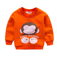 [102215-ORANGE] - Atasan Anak / Sweater Anak - Motif Color Monkey