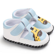 [105248-WHITE BLUE] - Sepatu Anak Prewalker Import / Baby Shoes - Motif Giraffe Head