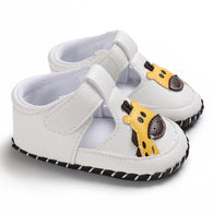 [105248-WHITE] - Sepatu Anak Prewalker Import / Baby Shoes - Motif Giraffe Head