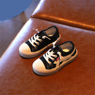 [365102-BLACK] - Import Sepatu Kets Anak Kekinian - Motif Two Turning Lines
