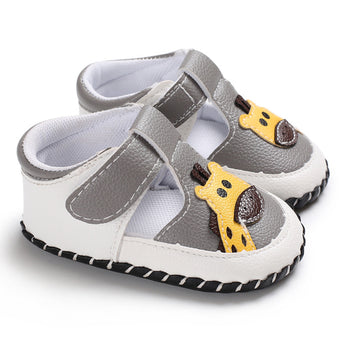 [105248-WHITE GRAY] - Sepatu Anak Prewalker Import / Baby Shoes - Motif Giraffe Head