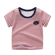 [104218] - Atasan Anak / Kaos Anak Kekinian Import - Motif Orange Striped