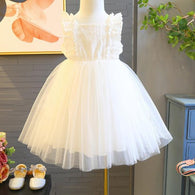 [363164] - Dress Modis Anak Perempuan / Fashion Anak Import - Motif Full Lace Top
