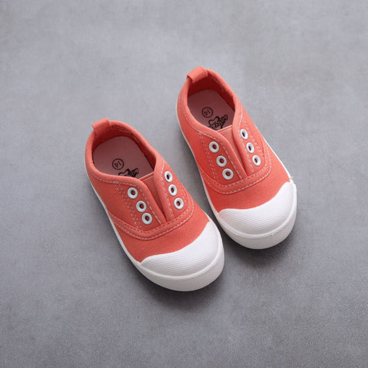 [106102-PEACH] - [ BEST SELLER ] Sepatu Kets Anak Pastel / Fashion / Casual [B9042]