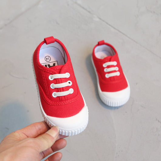 [106104-RED] - [ 100% IMPORT ] Sepatu Kets Strappy Anak Pastel / Fashion / Casual
