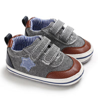 [105255-LIGHT BLACK] - Casual Shoes / Sepatu Kets Anak Prewalker Import - Motif One Star