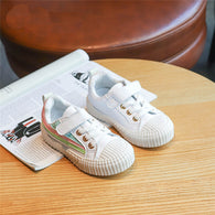 [365107-WHITE] - Import Sepatu Kets Anak Kekinian - Motif Three Color Lines