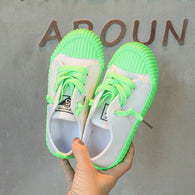 [365111-GREEN WHITE] - Import Sepatu Modis Anak Kekinian - Motif Color Rope