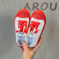 [365111-RED WHITE] - Import Sepatu Modis Anak Kekinian - Motif Color Rope