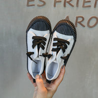 [365111-BLACK WHITE] - Import Sepatu Modis Anak Kekinian - Motif Color Rope