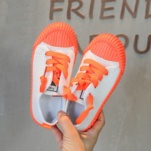 [365111-ORANGE WHITE] - Import Sepatu Modis Anak Kekinian - Motif Color Rope
