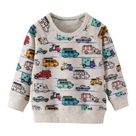 [357421] - Atasan Sweater Anak Import / Atasan Sweater Anak Trendi - Motif Cool Color Vehicles